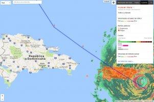 El Huracán María llega a Puerto Rico y Punta Cana con tanto peligro como Irma