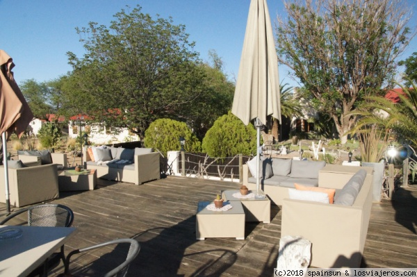 Hotel The Elegant Farmstead - Okahandja Terraza del hotel-granja-lodge The Elegant Farmstead