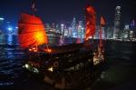 Skyline de Hong Kong iluminado