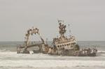 Barco Naufragado en Costa de los Esqueletos