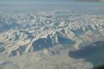 Lago Urmia nevado, visto desde el aire