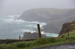 Tormenta en la costa del Anillo de Kerry, frente a las Skellig