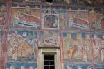 Detalle de las pinturas del Monasterio de Gura Humorului - Bucovina