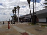 Windhoek Airport: walking to the plane