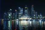 Singapore's financial district at night