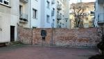 Muro del antiguo gueto de Varsovia