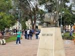 Estatua de Bolívar, el libertador del país, en Usaquén