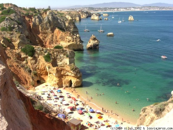 Praia do Camilo Playa en Lagos (Portugal).