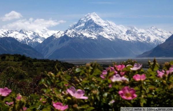 Los Alpes neozelandeses en su primavera - Nueva Zelanda NZ Alps in spring - New Zealand