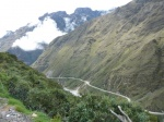View of Death road in Bolivia