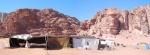 haima de una familia en el desierto de Wadi Rum