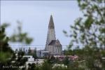 Iglesia Hallgrímskirkja desde Perlan, Reykjavik (Islandia)
