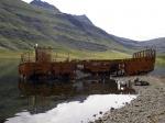 Barco varado en Mjóifjörður