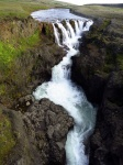 Cascada en el cañón de Kolugljúfur