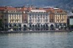 Edificios en el lungolago de Lugano