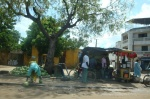 Senegal - Dakar - Roadside stalls filled.