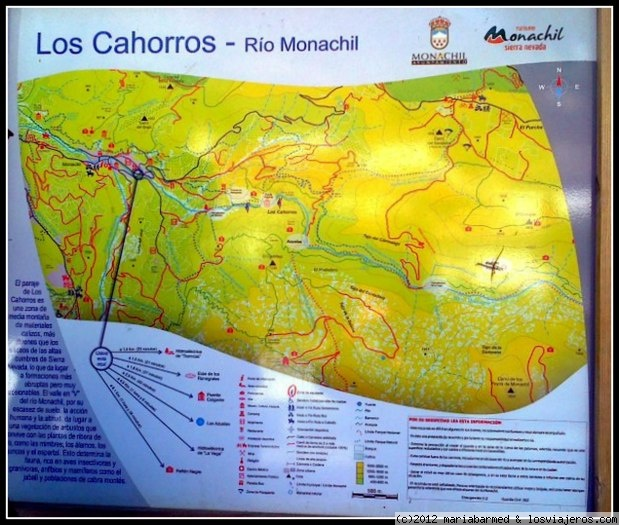 Los Cahorros Monachil Mapa.Ruta De Senderismo Monachil Los Cahorros Ruta Espana Losviajeros Com
