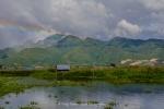 arcoiris sobre el lago