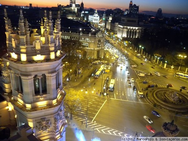 Vistas Desde El Antiguo Palacio De Correos De Madrid Fotos