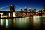 Puente de Brooklyn-Skyline de Manhattan