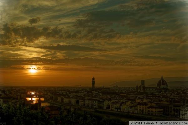 Piazzale Michelangelo-Florencia- Italia Piazzale Michelangelo-Florence-Italy