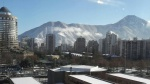 Santiago de Chile cubierta por la nieve