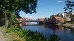 GAMLE BYBRY bridge over the NIDELVA river, Trondheim, Norway