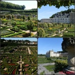 Collage de Chateaux/ jardines de Villandry