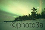 Northen lights Observed from Inari Lake  at Finland Lapland