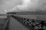Access bridge to Shell Island