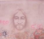 Muro de John Lennon en Praga en 1996