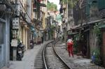 Hanoi train street (calle del tren de Hanoi)