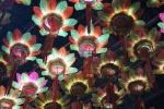 Flores de luz en Hong Kong