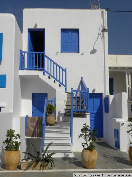 Mykonos tipicas casas de la ciudad fotos de grecia for Casas en islas griegas