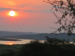 Atardecer en el Nature Lodge de Murchison Falls National Park