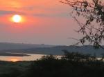 Atardecer en el Nature Lodge de Murchison Falls National Park
