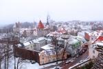 Panorámica de Tallín nevado