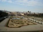 Jardines del Palacio Belvedere en Viena