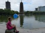 A China con nuestra niña!!
