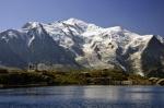 Mont Blanc desde el lago Cheseries