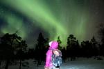 Aurora boreal desde el mirador Santasvaara