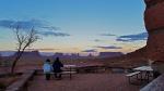 Terraza del Goulding´s Lodge en Monument Valley, habitación de lujo!!.