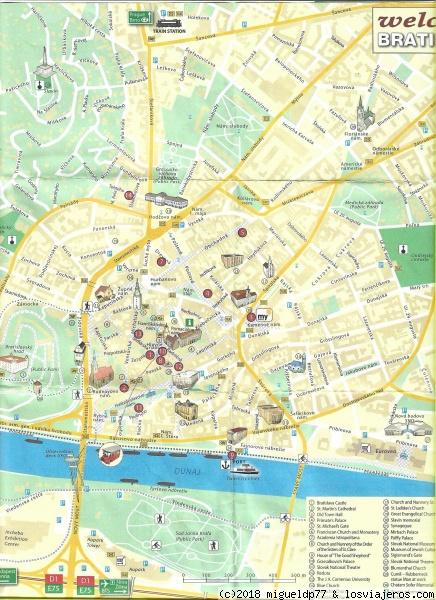 Bratislava Tourist Service Map Map Of Bratislava City Centre