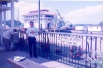 Esclusa,o paso de Miraflores en el canal de Panamá, que da al Océano Pacífico. 1997
