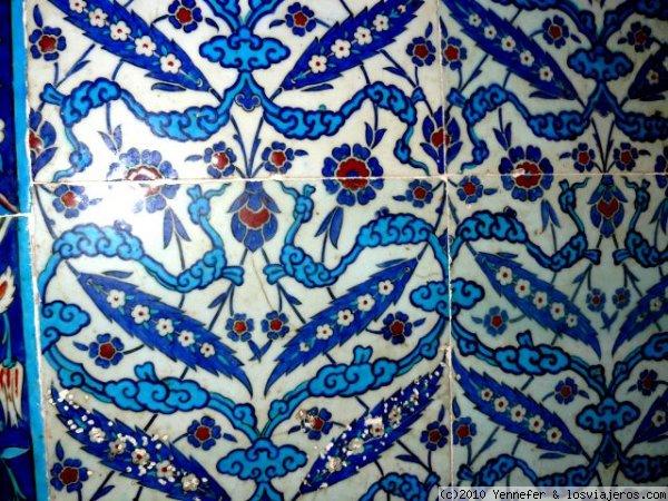 Dibujos En Azulejos Iznik Fotos De Turquia Losviajeros - Azulejos-con-dibujos