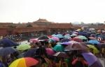 Diluvia sobre la Ciudad Prohibida. China