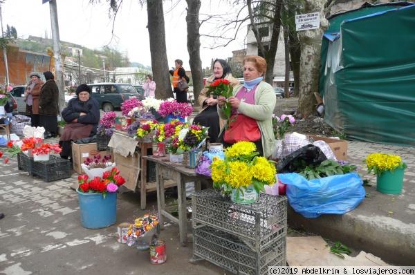 El mercadillo de flores en Georgia