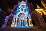Juego de luces en el pórtico norte. Chartres