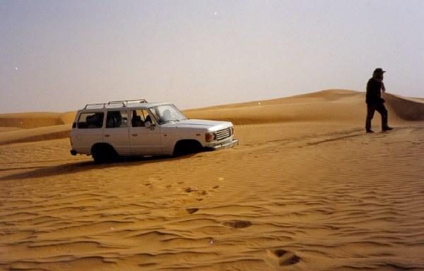 Sahara Dunes - Mauritania Atascados en una duna del Sahara - Mauritania
