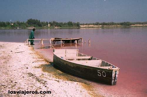 Lago Rosa (cerca de Dakar) - Senegal Rose Lake or Retba Lake - Senegal